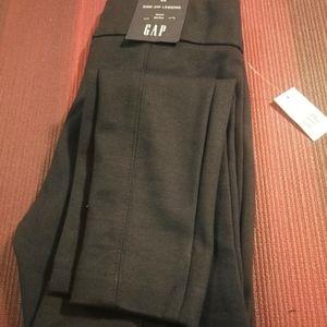 NWT Gap side zip ponte mid rise leggings